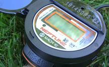Smart water meter in grass