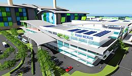 Tuas Water Reclamation Plant & Integrated Waste Management Facility rendering