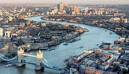 Aerial of River Thames